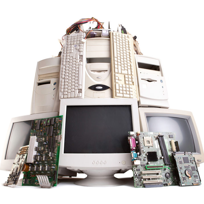 Piled Up Technology Devices
